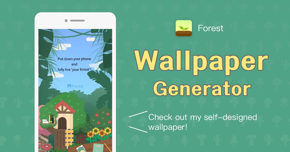 Forest Phone Wallpaper Generator Nature Wallpaper